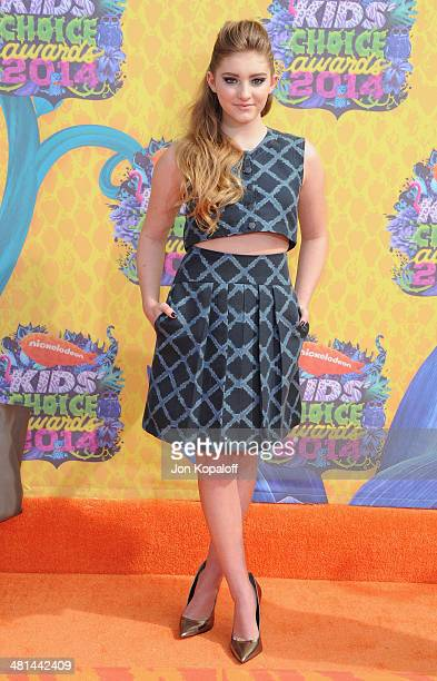 Actress Willow Shields arrives at Nickelodeon's 27th Annual Kids' Choice Awards at USC Galen Center on March 29 2014 in Los Angeles California