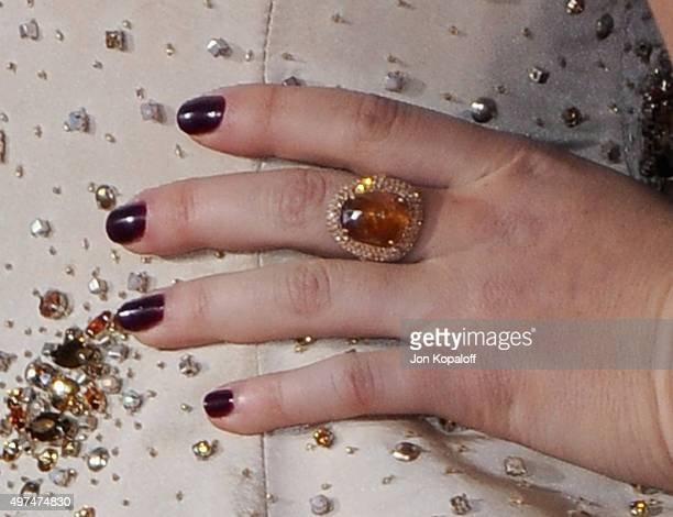 Actress Willow Shields arrives at the Los Angeles Premiere Of Lionsgate's The Hunger Games Mockingjay Part 2 at Microsoft Theater on November 16 2015...