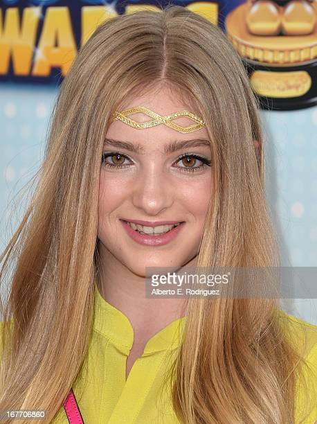 Actress Willow Shields arrives to the 2013 Radio Disney Music Awards at Nokia Theatre L.A. Live on April 27, 2013 in Los Angeles, California.
