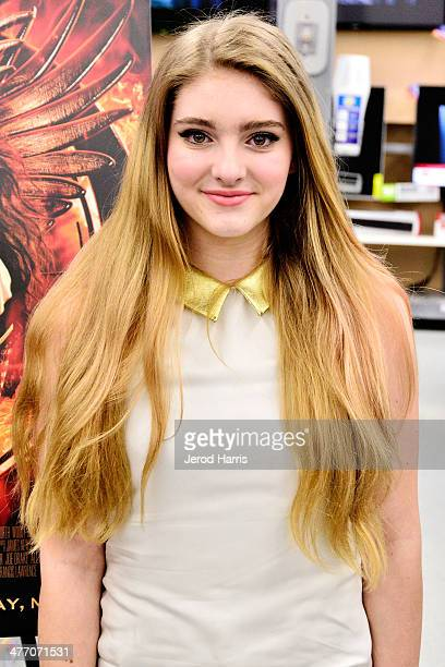 Actress Willow Shields attends Lionsgate's 'The Hunger Games Catching Fire' Bluray Combo Pack and DVD home entertainment release celebration at...