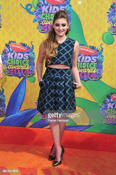 Actress Willow Shields attends Nickelodeon's 27th Annual Kids' Choice Awards held at USC Galen Center on March 29 2014 in Los Angeles California