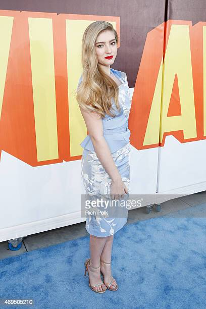 Actress Willow Shields attends The 2015 MTV Movie Awards at Nokia Theatre LA Live on April 12 2015 in Los Angeles California