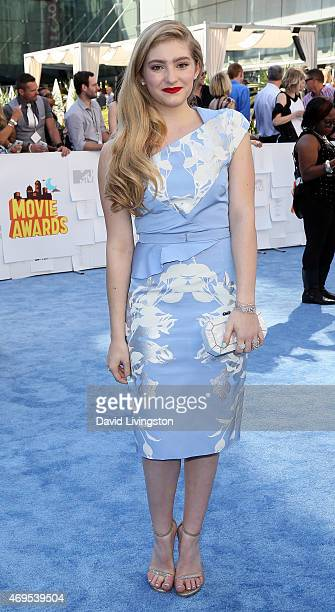 Actress Willow Shields attends the 2015 MTV Movie Awards at the Nokia Theatre LA Live on April 12 2015 in Los Angeles California