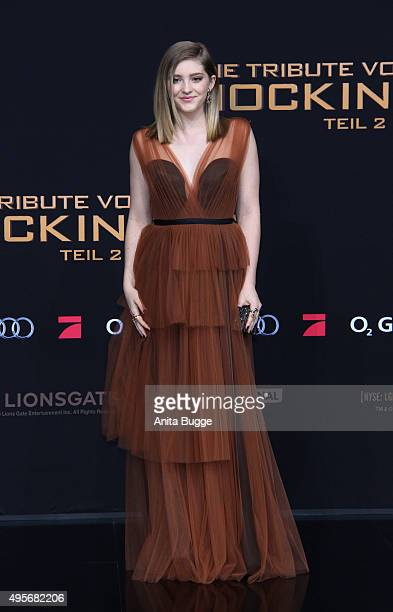 Actress Willow Shields attends the world premiere of the film 'The Hunger Games: Mockingjay - Part 2' at CineStar on November 4, 2015 in Berlin,...