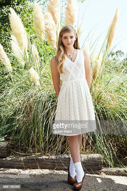 Actress Willow Shields is photographed for Teen Vogue Magazine on July 23 2013 in Los Angeles California