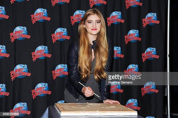 Actress Willow Shields visits at Planet Hollywood Times Square on November 15, 2014 in New York City.