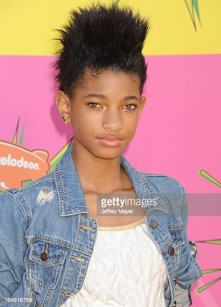 Actress Willow Smith arrives at Nickelodeon's 26th Annual Kids' Choice Awards at USC Galen Center on March 23 2013 in Los Angeles California