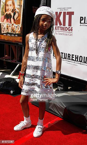 Actress Willow Smith arrives at the Premiere Of Kit Kittredge An American Girl held at the Grove on June 14 2008 in Los Angeles California