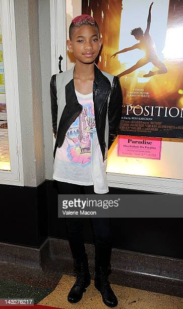 Actress Willow Smith attends the Premiere Of Sundance Selects' First Position at Aero Theatre on April 22 2012 in Santa Monica California