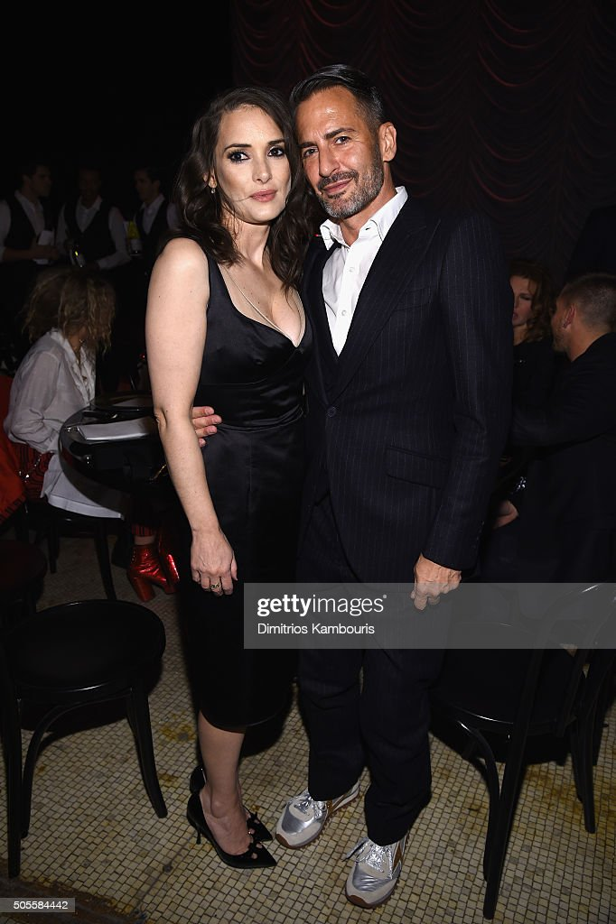 Actress Winona Rider and designer Marc Jacobs attend Marc Jacobs Beauty Velvet Noir Mascara Launch Dinner on January 18, 2016 in New York City.
