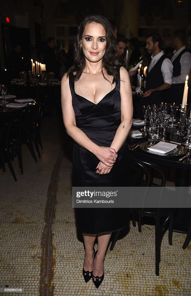 Actress Winona Rider attends Marc Jacobs Beauty Velvet Noir Mascara Launch Dinner on January 18, 2016 in New York City.