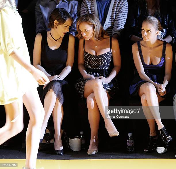 Actress Winona Ryder Actress Christina Ricci and Nicole Ritchie attend the DKNY Celebrates 20 Years Runway Show at The Tent Bryant Park on September...