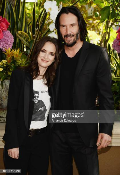 Actress Winona Ryder attends a photo call for Regatta's 'Destination Wedding' at the Four Seasons Hotel Los Angeles at Beverly Hills on August 18...