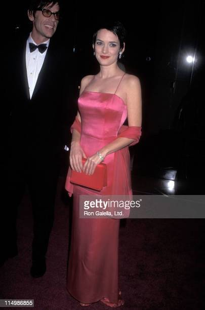 Actress Winona Ryder and friend Kevin Haley attend the 25th Annual American Film Institute Lifetime Achievement Award Salute to Martin Scorsese on...
