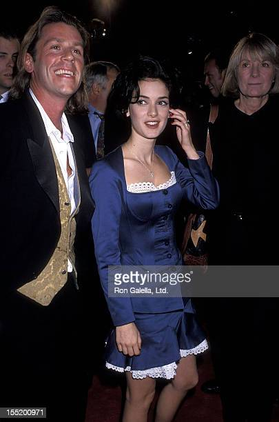 Actress Winona Ryder and friend Kevin Haley attend the 'Dracula' Hollywood Premiere on November 10 1992 at Mann's Chinese Theatre in Hollywood...