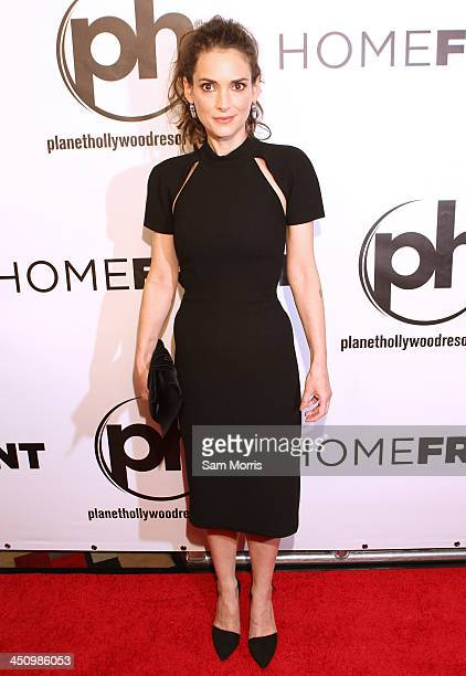 Actress Winona Ryder arrives at the Las Vegas premiere of Open Road Films'Homefront at Planet Hollywood Resort Casino on November 20 2013 in Las...