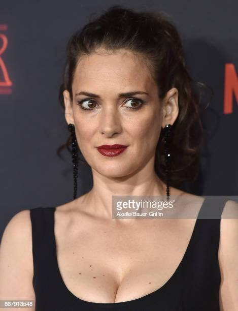 Actress Winona Ryder arrives at the premiere of Netflix's 'Stranger Things' Season 2 at Regency Bruin Theatre on October 26 2017 in Los Angeles...