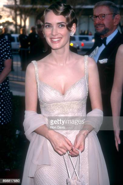 Actress Winona Ryder arrives for The 68th Annual Academy Awards on March 25 1996 at the Dorothy Chandler Pavilion in Los Angeles California