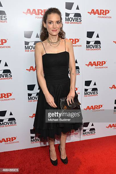 Actress Winona Ryder attends 13th Annual AARP's Movies for Grownups Awards Gala at Regent Beverly Wilshire Hotel on February 10 2014 in Beverly Hills...