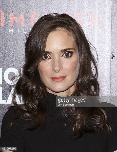 Actress Winona Ryder attends Montblanc The Cinema Society host a party for The New York Film Festival premiere of Magnolia Pictures' 'Experimenter'...
