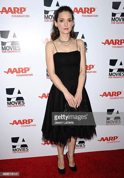 Actress Winona Ryder attends the 13th annual AARP's Movies For Grownups Awards gala at Regent Beverly Wilshire Hotel on February 10 2014 in Beverly...