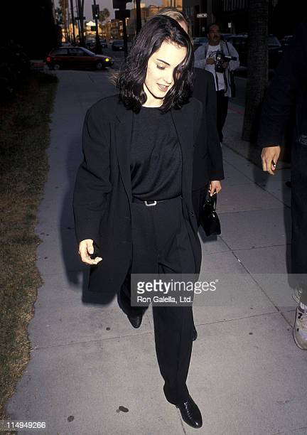 Actress Winona Ryder attends the 'Backdraft' Beverly Hills Premiere on May 22 1991 at the Academy Theatre in Beverly Hills California