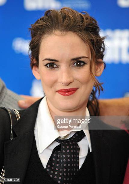 Actress Winona Ryder attends the 'Black Swan' Press Conference during the 35th Toronto International Film Festival at the Hyatt Regency on September...