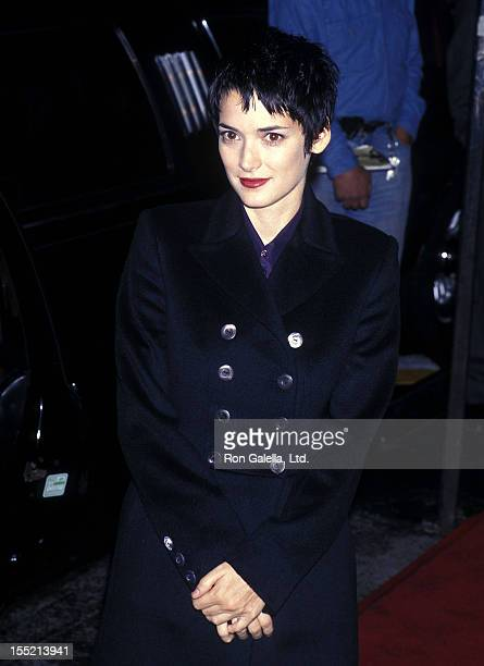 """Actress Winona Ryder attends """"The Crucible"""" New York City Premiere on November 25, 1996 at the Gotham Cinema in New York City."""