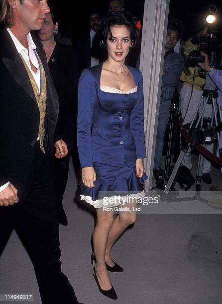 """Actress Winona Ryder attends the """"Dracula"""" Hollywood Premiere on November 10, 1992 at Mann's Chinese Theatre in Hollywood, California."""