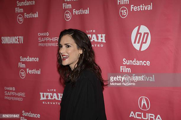 """Actress Winona Ryder attends the """"Experimenter"""" premiere at the 2015 Sundance Film Festival"""