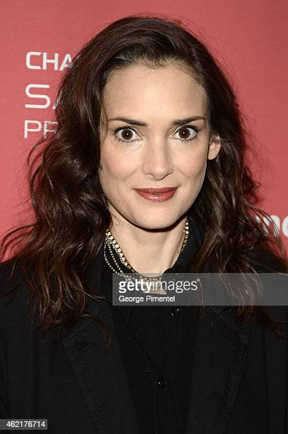 Actress Winona Ryder attends the 'Experimenter' Premiere during the 2015 Sundance Film Festival at the Eccles Center Theatre on January 25 2015 in...