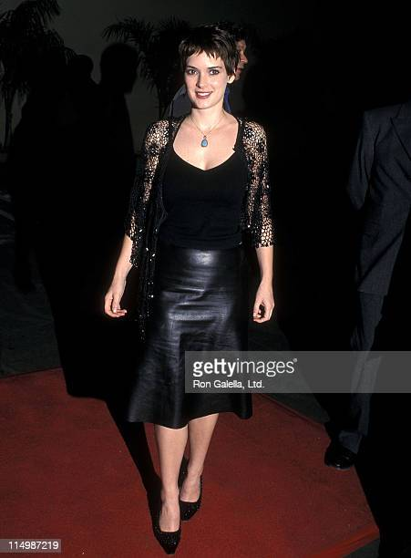 Actress Winona Ryder attends the Girl Interrupted Hollywood Premiere on December 8 1999 at Pacific's Cinerama Dome in Hollywood California