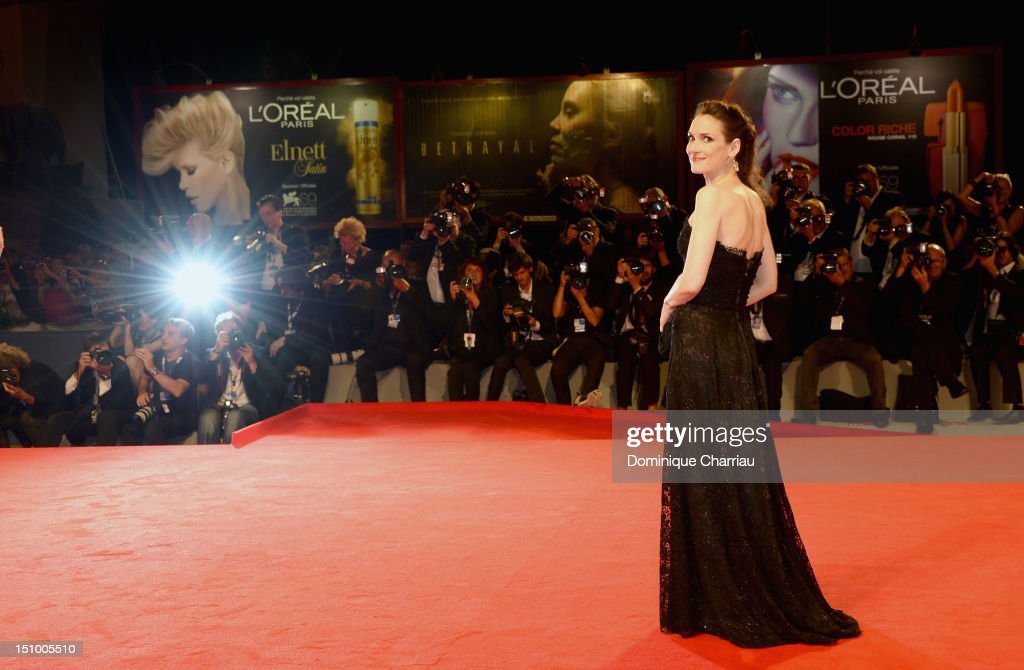 Actress Winona Ryder attends 'The Iceman' Premiere during The 69th Venice Film Festival at the Palazzo del Cinema on August 30, 2012 in Venice, Italy.