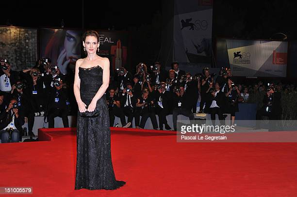 Actress Winona Ryder attends The Iceman premiere during the 69th Venice Film Festival at the Palazzo del Cinema on August 30 2012 in Venice Italy