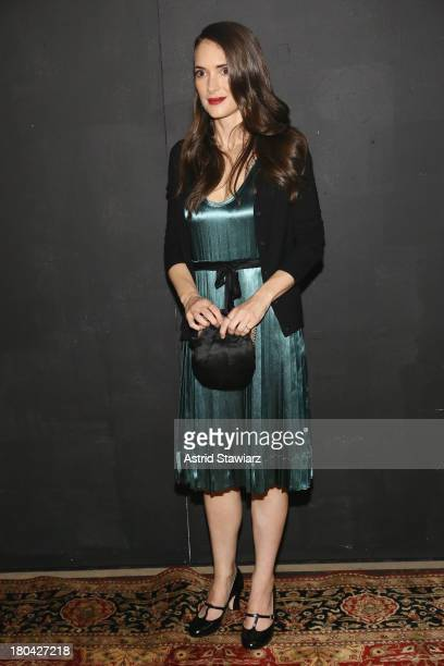 Actress Winona Ryder attends the Marc Jacobs fashion show during MercedesBenz Fashion Week Spring 2014 at the Lexington Avenue Armory on September 12...