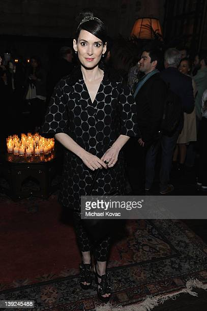 Actress Winona Ryder attends the Marni at HM Collection Launch at Lloyd Wright's Sowden House on February 17 2012 in Los Angeles California