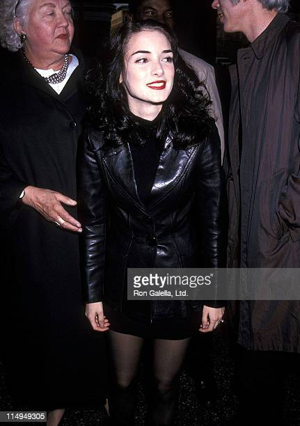 "Actress Winona Ryder attends the ""Night on Earth"" New York City Premiere on April 28, 1992 at Village East Theater in New York City."