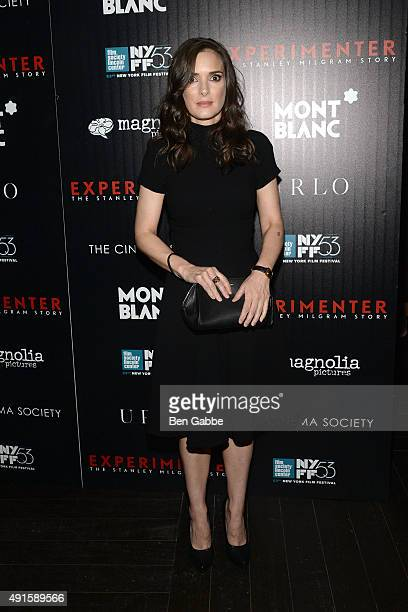 Actress Winona Ryder attends the party for the 53rd New York Film Festival's premiere of Magnolia Pictures' 'Experimenter' hosted by Montblanc and...