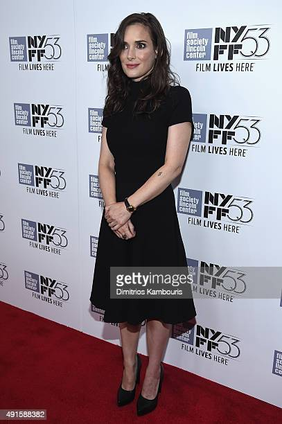 Actress Winona Ryder attends the premiere of Experimenter during the 53rd New York Film Festival at Alice Tully Hall Lincoln Center on October 6 2015...