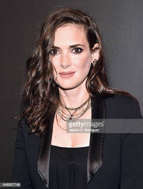 Actress Winona Ryder attends the Premiere of Netflix's Stranger Things at Mack Sennett Studios on July 11 2016 in Los Angeles California