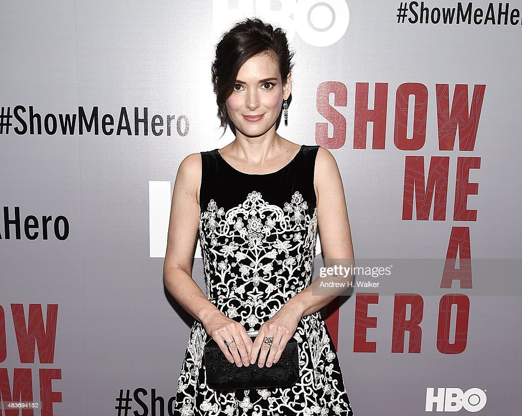 Actress Winona Ryder attends the 'Show Me A Hero' New York screening at The New York Times Center on August 11, 2015 in New York City.