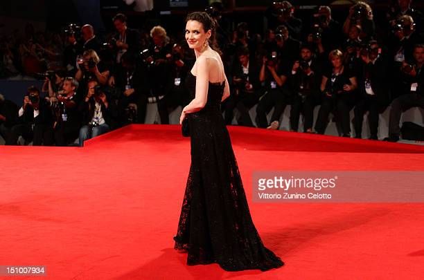 Actress Winona Ryder attends the 'Superstar' premiere during the 69th Venice Film Festival at the Palazzo del Cinema on August 30 2012 in Venice Italy