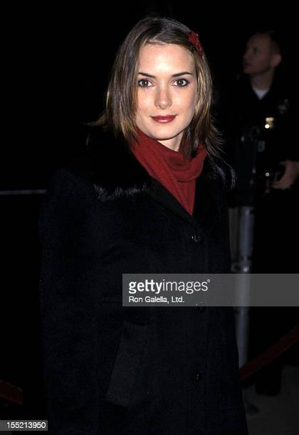 Actress Winona Ryder attends the 'Traffic' Beverly Hills Premiere on December 14 2000 at Samuel Goldwyn Theatre in Beverly Hills California