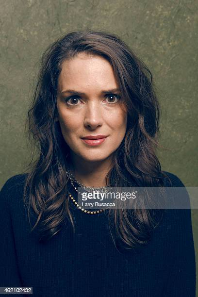 Actress Winona Ryder from 'Experimenter' poses for a portrait at the Village at the Lift Presented by McDonald's McCafe during the 2015 Sundance Film...