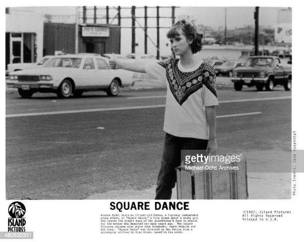 Actress Winona Ryder in a scene from the movie 'Square Dance' circa 1987