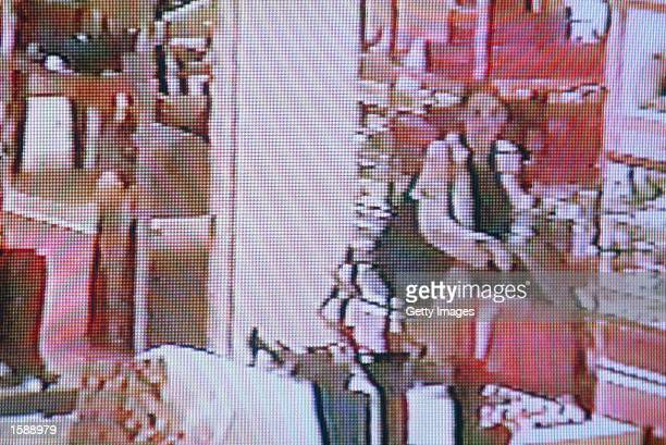 Actress Winona Ryder is seen from a security surveillance tape released by the Los Angeles County Courts shopping at Saks Fifth Avenue on December 12...