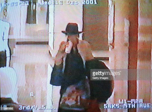 Actress Winona Ryder is seen from a security surveillance tape released by the Los Angeles County Courts shopping at Saks Fifth Avenue on December...