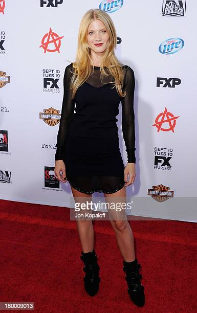 Actress Winter Ave Zoli arrives at FX's Sons Of Anarchy Season 6 Premiere Screening at Dolby Theatre on September 7 2013 in Hollywood California