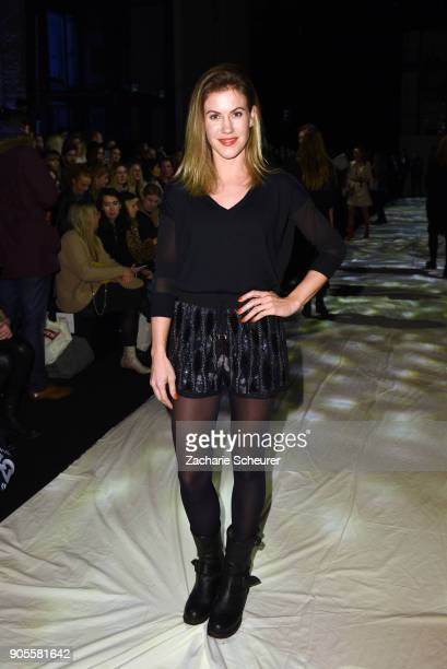 Actress Wolke Hegenbarth attends the Cashmere Victim show during the MBFW Berlin January 2018 at ewerk on January 16 2018 in Berlin Germany
