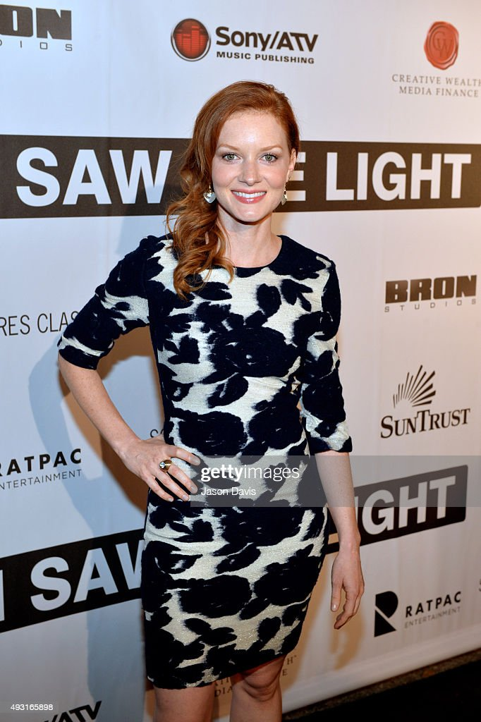 Actress Wrenn Schmidt arrives at the 'I Saw The Light' Nashville Premier at The Belcourt Theatre on October 17, 2015 in Nashville, Tennessee.
